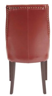 Rockwell Leather Dining Chair Rear