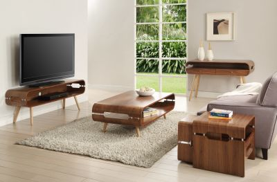 JF702 Rectangular TV Stand Room Setting Compressed