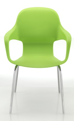 Ludo Chair In Green Front Facing