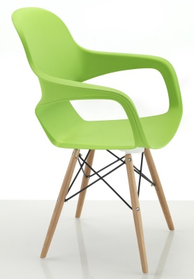 Ludo Chair With Eiffel Legs Side View