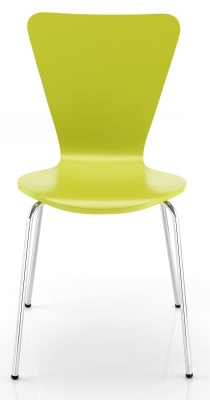 Keeler Plyood Green Chair Front Face