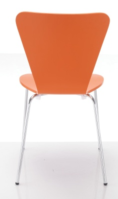Keeler Orange Plywood Chair Rear View