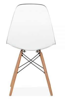 Eames Dsw With A Transparent Shell Rear View