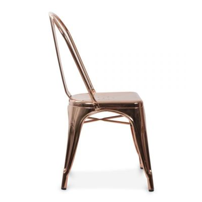 Xavier Pauchard Chair In Polished Gold Finish Side View
