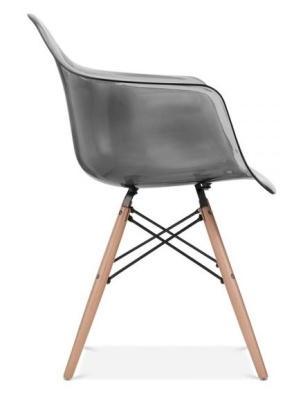 Daw Chair Smoked Grey Seat And Beech Legs Side Shot