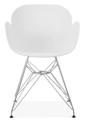 Eames Inspired Buttterfly Chair In Whiote With Metal Legs