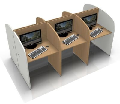 Offimatv Six Person Call Centre Desk With White Sides