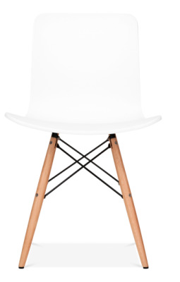Vibra Eames Inpired Chair In White Facing