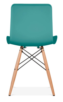 Vibra Eames Inspired Chair With A Teal Shell Rear View