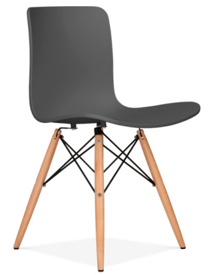 Vibra Eames Inspired Chair With A Dark Grey Shell