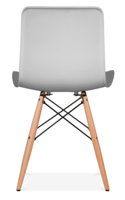 Vibra Chair With A Light Grey Shell Rear View