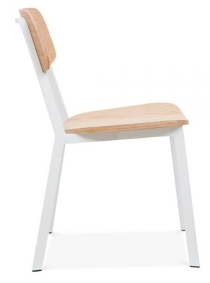 Rica Chair With A White Frame Side View