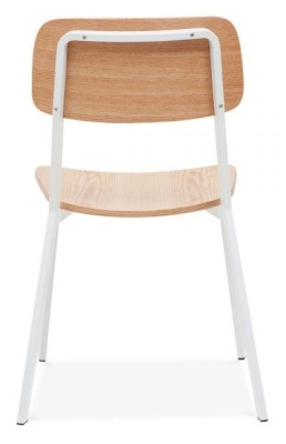 Rica Dining Chair With A White Frame Rear View