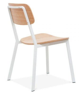 Rica Chair With A White Frame Rear Angle