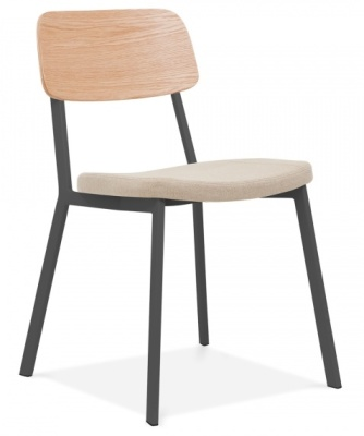 Rica Chair With A Cream Seat Front Angle