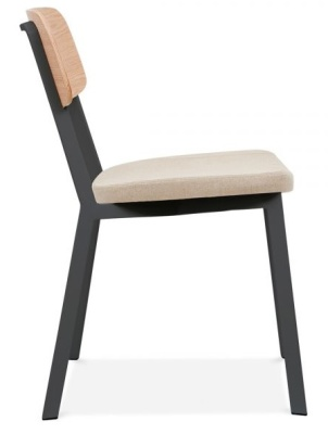 Rica Chair With A Cream Seat Side View