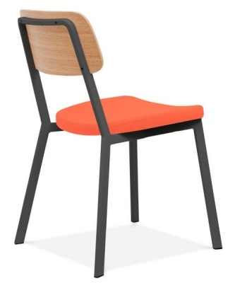 Rica Chair With An Orange Seat Back Angle