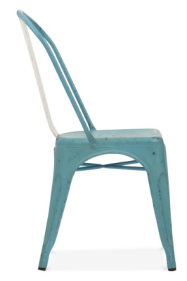 Xavier Pauchard Light Blue Distressed Chair Side View