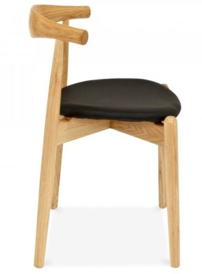 Elbow Chair With A Round Seat Side View