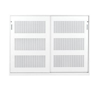 1200mm High Acoustic Steel Cupboard In White