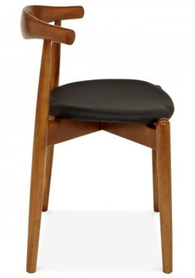 Elbow Chair With A Walnut Frame Side View