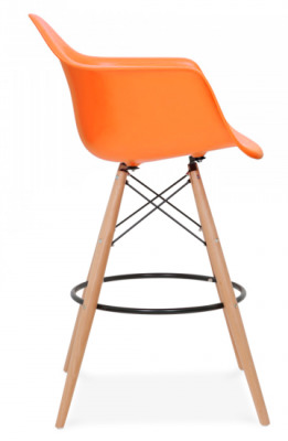 DAR High Stool With An Orange Seat Side View