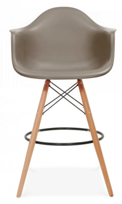 Eames DAR High Stool In Mid Grey Face Shot