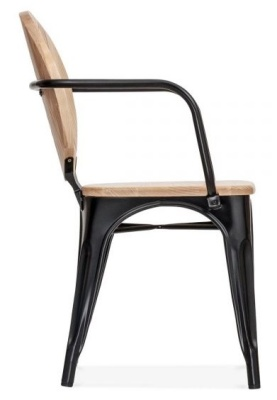 Louis Style Cafe Armchair Side View
