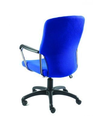 Trinity Managers Chair With Blue Upholstery