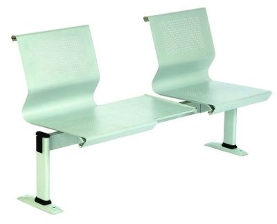 Mandino Metal Beam Seating With Floor Fixing Legs With Steel Perforated Backs