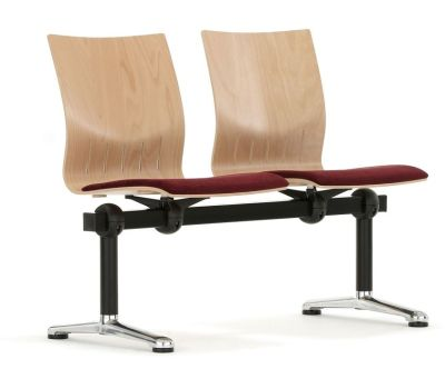 Stylish Beam Seats With Wooden Chairs And Upholstered Seats