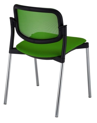 Trapeze Mesh Back Conference Chair Rear Angle