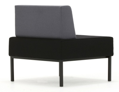 Loiter Bsingle Bench With Back Rear Angle Shot