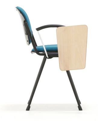 Max Confernce Chair With A Writing Tablet Side View