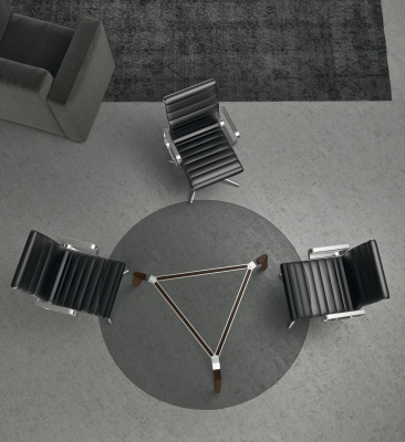 Gravity Glass Meeting Table From Above