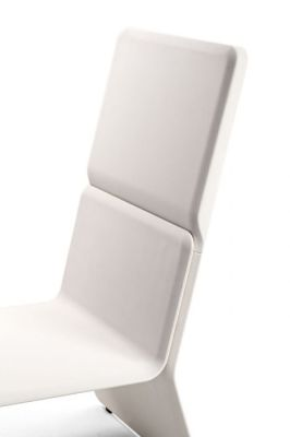 Shea High Back Chair In White Side View