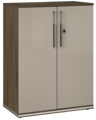Vermont Waqlubt Cupboard With Contrasting Taupe Doors