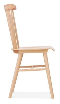 Eton Wooden Dining Chair Natural Finish Side View