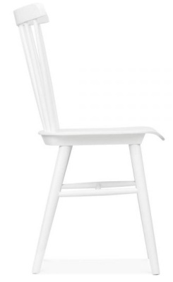 Eton White Wooden Dining Chair Side View