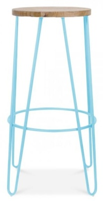 Hairpin Stool Light Blue Frame