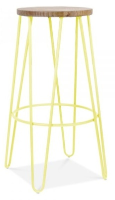 Hairpin High Stool Yellowm Frame