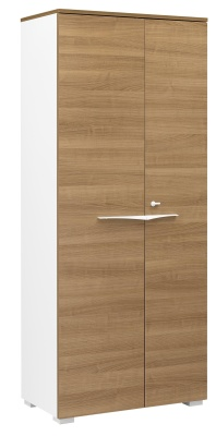 Xenon Tall Cupboard With Cherry Doors