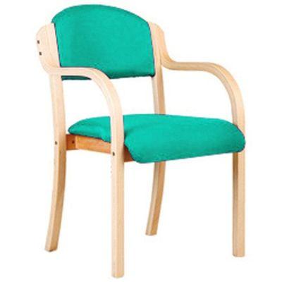 Derby Wood Framed Arm Chair Aquar Fabric