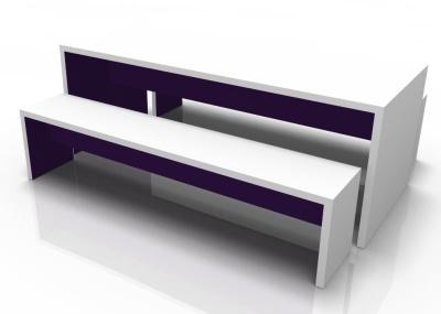 Wg Bench Set Aubgerine Inner White Outer