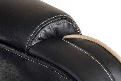 Goliato Chair Head Rest Detail Black Leather