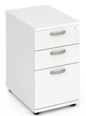 Revolution Desk Height Pedestal In White