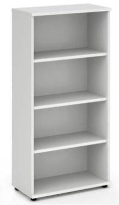 Revolution 3 Shelf Bookcase White Finish