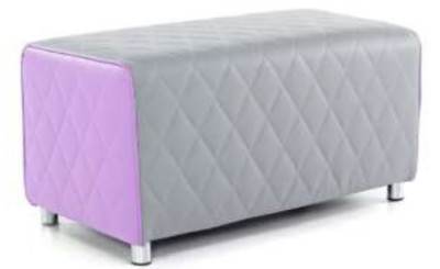 Vantec Two Seater Bench Sofa Purple And Grey