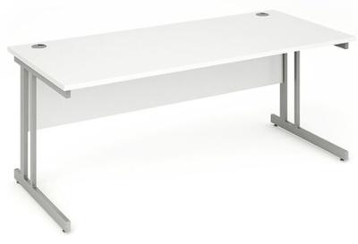 Abacus 2 Rectanguilar Desks White Top