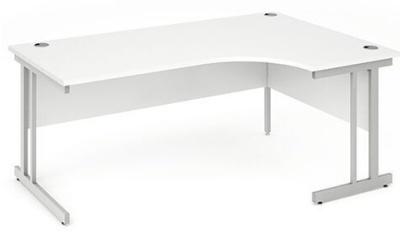 Abacus Plus Left Hand Corner Desk White